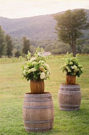 Hydrangea-Bells-of-Ireland-Arrangements
