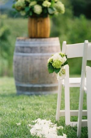Hydrangea-Mason-Jar-Aisle-Flowers