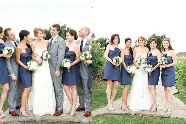 Indigo-Blue-and-Grey-Bridal-Party - Elizabeth Anne Designs: The ...