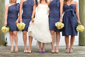 Indigo-and-Yellow-Bridesmaids-Dresses