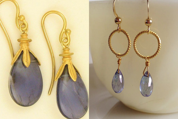 Lavender-Indigo-Gold-Earrings