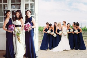Long-Dark-Indigo-Blue-Bridesmaids-Gowns