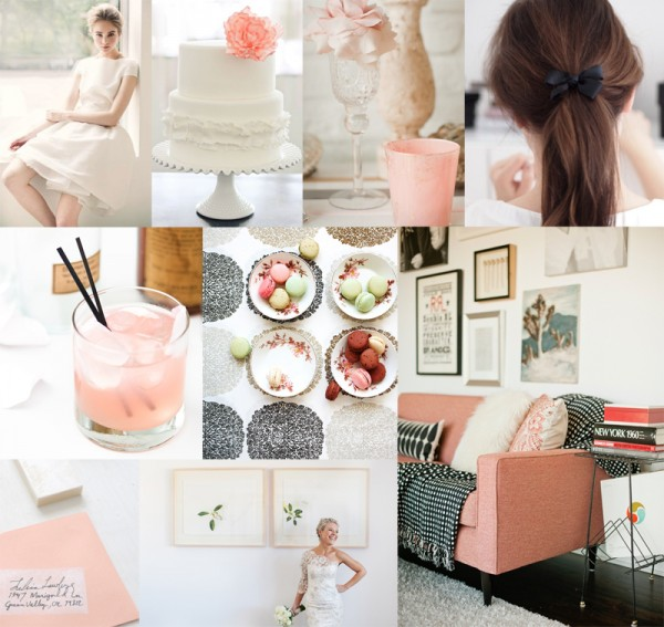 Pink-Black-White-Wedding-Colors
