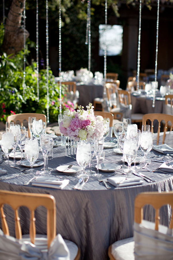 Pink And Silver Wedding Decor