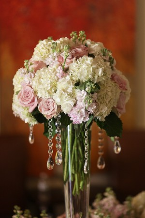 Rose-Hydrangea-Stock-Pink-and-White-Centerpiece