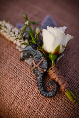 Seahorse-Boutonniere