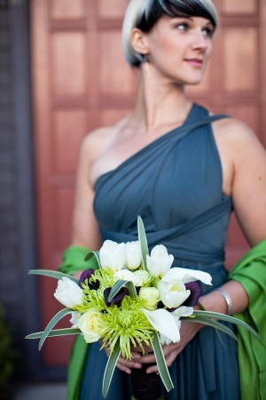 Slate-Blue-Bridesmaids-Exotic-Bouquet