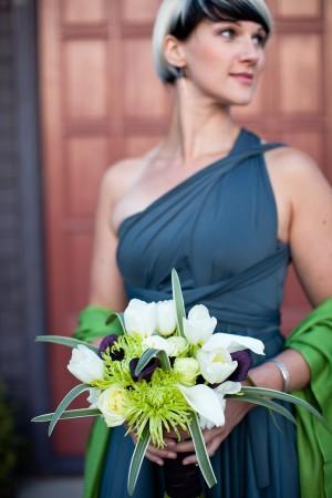 Slate-Blue-Bridesmaids-Exotic-Bouquet