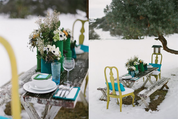 chartreuse-teal-green-cozy-knit-winter-tablescape
