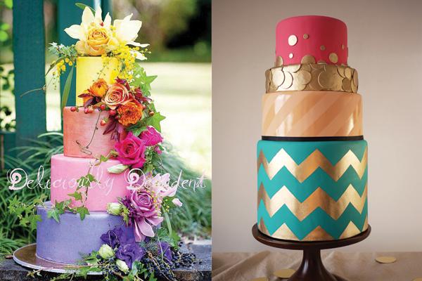 colorblock-wedding-cakes