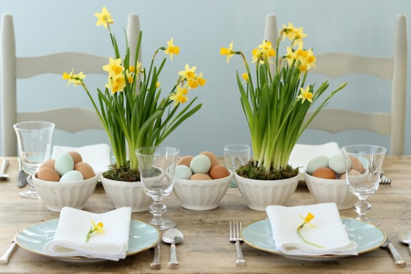 easter-daffodil-centerpiece