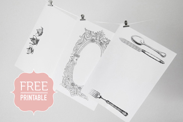 free wedding placemat printable