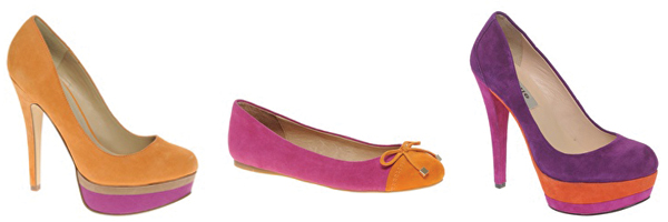 fuchsia-tangerine-colorblock-shoes