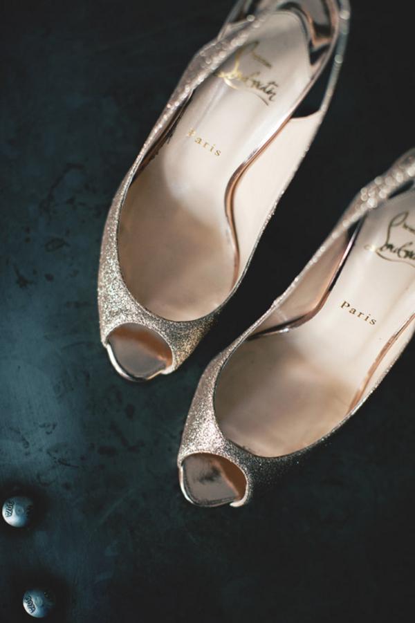 Christian Louboutin Peep Toe Wedding Shoes   Elizabeth Anne Designs: The  Wedding Blog