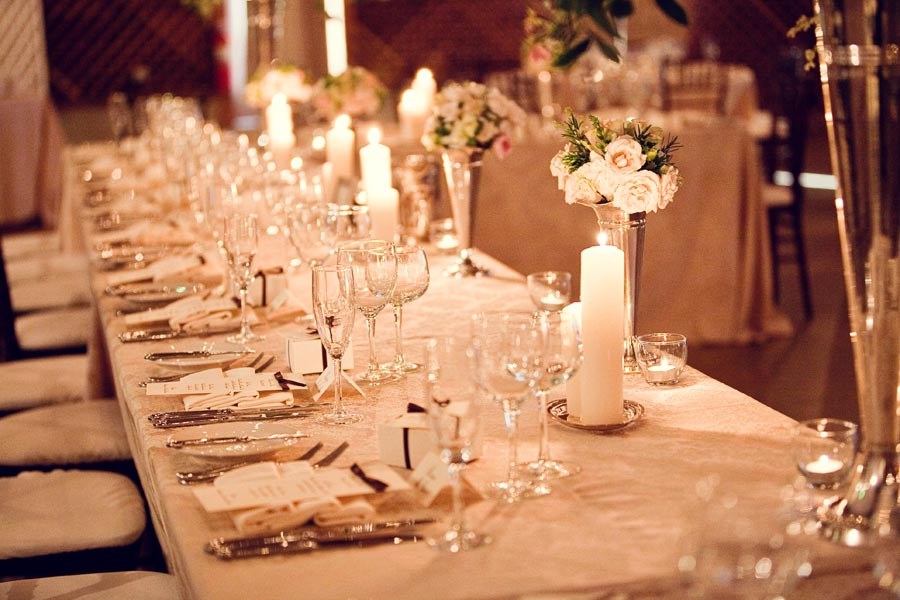 Evening candlelight wedding