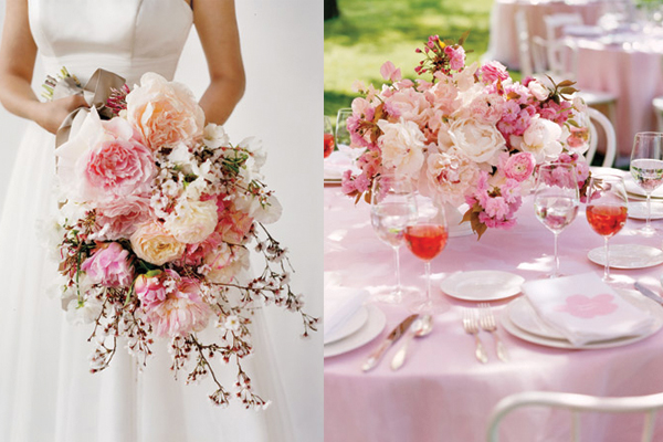 Dogwood and Cherry Blossom Wedding Flowers