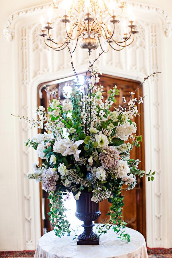 English Garden Entrance Floral Arrangement
