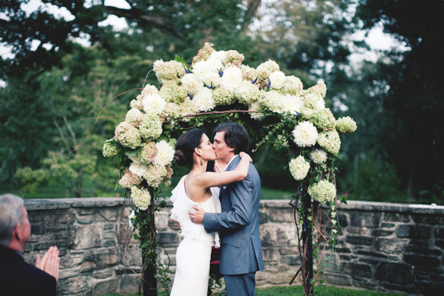 Wedding Ceremony Ideas Flower Covered Wedding Arch: Blue Hill At Stone Barns Wedding From Katie Osgood Photography