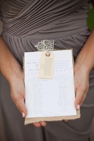 Lace-Burlap-Wedding-Program