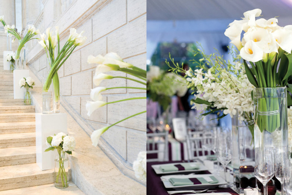 Modern Wedding Calla Lily Centerpieces