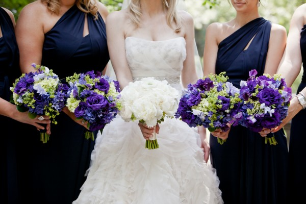 Navy-Purple-Bouquets - Elizabeth Anne Designs: The Wedding Blog