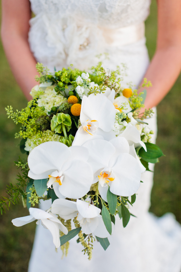 Orchid-and-Craspedia-Bouquet