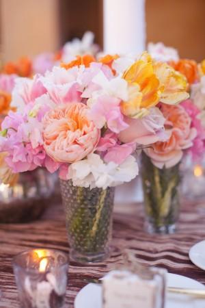 Peach-Pink-and-Tangerine-Centerpiece