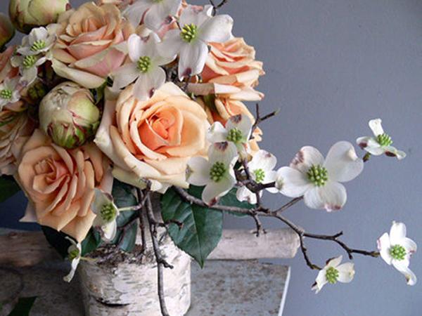 Rose-Dogwood-Birch-Arrangement