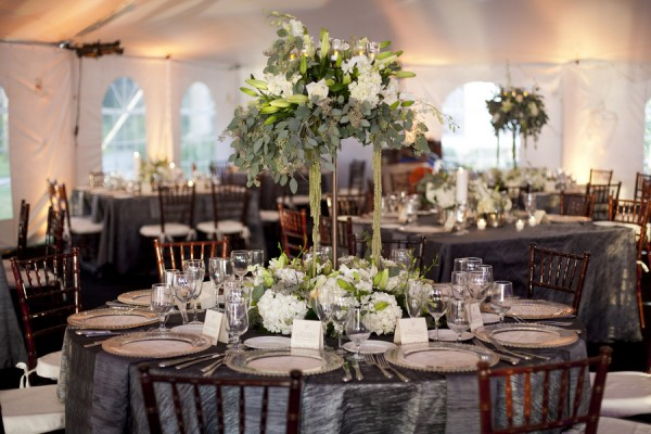 Silver And White Wedding Tablescape Elizabeth Anne Designs The
