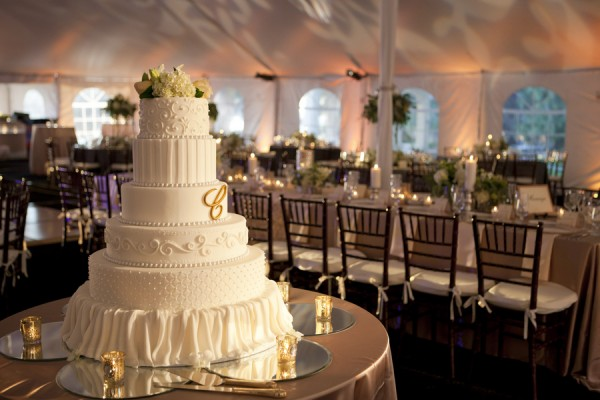 Tall-White-Tiered-Wedding-Cake