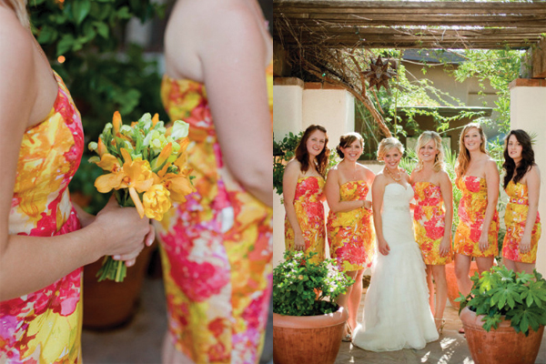 Vibrant-Floral-Print-Bridesmaids-Dresses