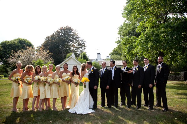 Yellow And Black Bridal Party