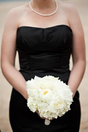 Black-and-White-Bridesmaid