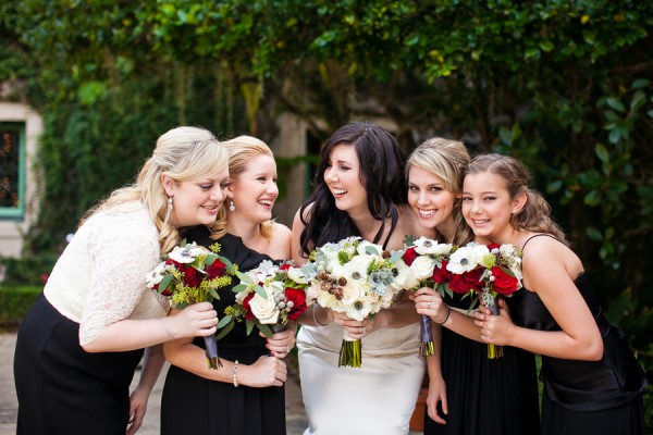 Black-and-White-Bridesmaids