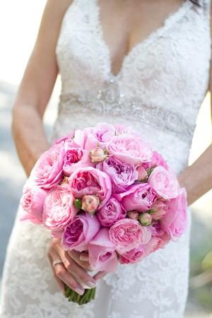 Bright-Pink-Rose-Wedding-Bridal-Bouquet