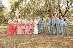 Coral-Salmon-Bridal-Party