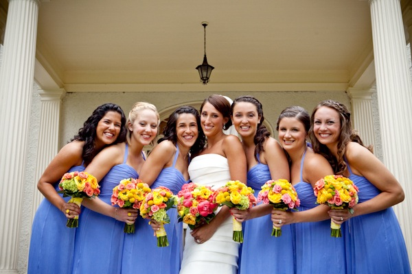 Cornflower-Blue-Bridesmaids-Dresses