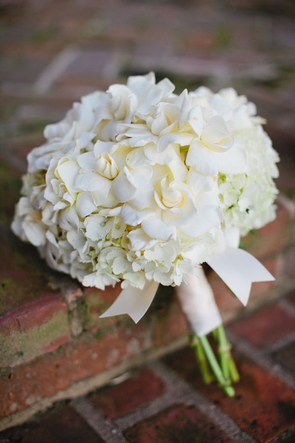 Gardenia Hydrangea Wedding Bouquet Elizabeth Anne