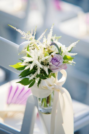 Lavender-Rose-Chair-Posy