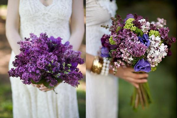 Lilac Bridal Bouquets