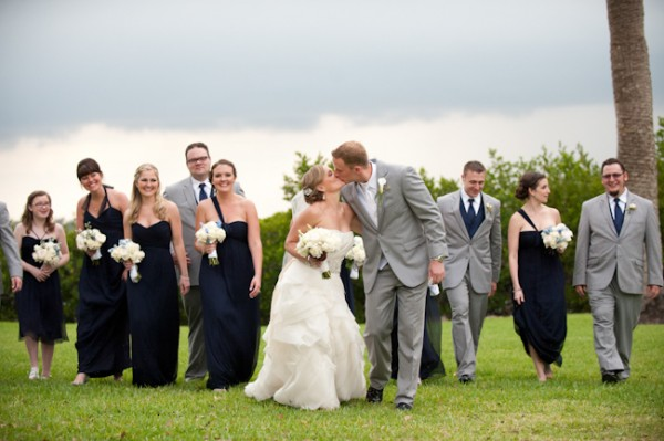 Navy and Grey Wedding Party Elizabeth Anne Designs The