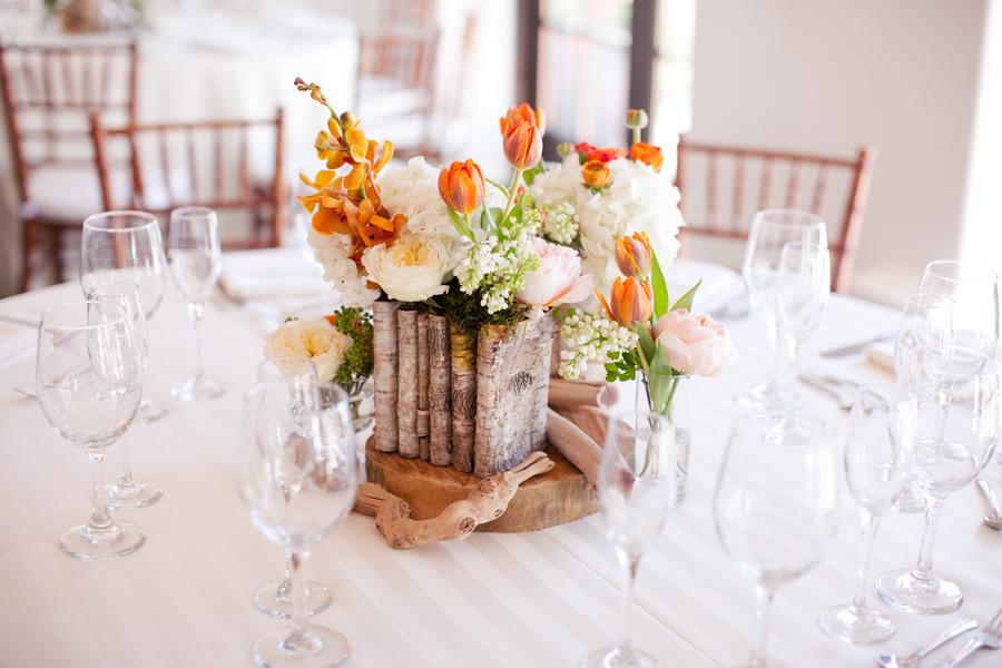 Orange Tulip Centerpiece Elizabeth Anne Designs The Wedding Blog