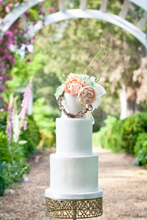 Peach-White-Wedding-Cake