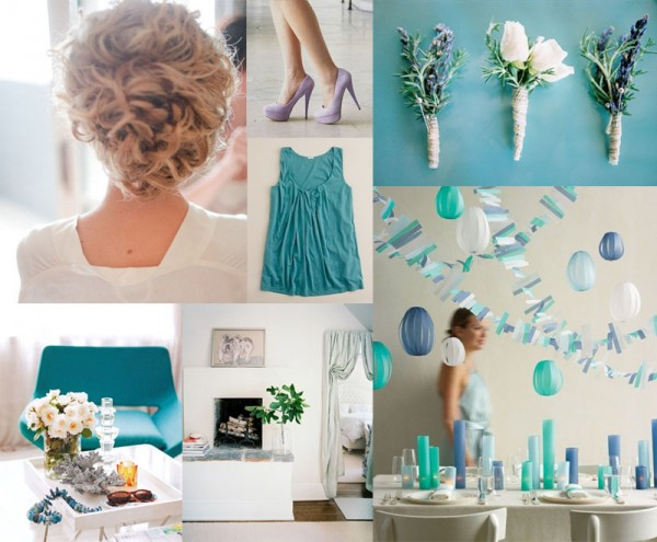 Teal Wedding Colors | Periwinkle Teal Wedding Inspiration Board