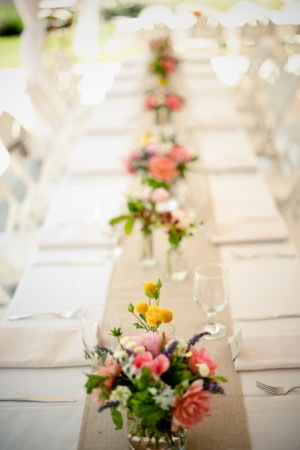 Pink-Yellow-Garden-Wedding-Centerpiece