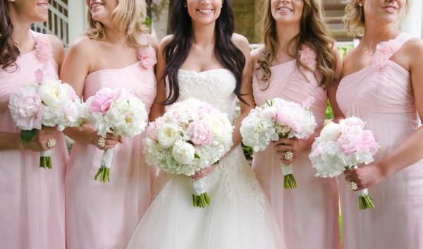Wedding flowers peonies pink and white bridesmaids mightylinksfo Choice Image