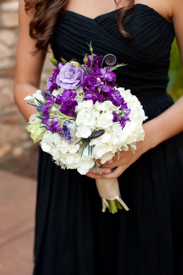 Bridesmaid Flowers Purple : Purple and white bridesmaids bouquet elizabeth anne