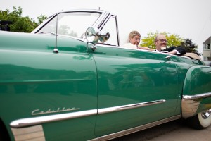 Teal-Wedding-Getaway-Car