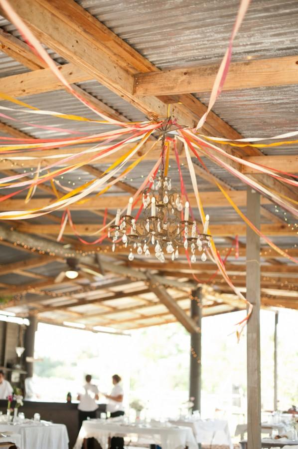 wedding reception streamers