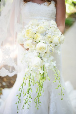 White-Rose-and-Orchid-Cascading-Wedding-Bouquet
